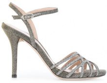 Stuart Weitzman - Sandali 'Flicker' - women - Leather/PVC - 38, 36, 37, 37.5, 40, 41, 36.5, 39 - METALLIC