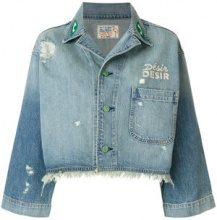 Sandrine Rose - cropped denim jacket - women - Cotton - S, M - BLUE