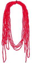 - Maria Calderara - Sciarpa a fili - women - fibra sintetica - Taglia Unica - di colore rosso