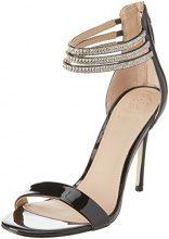 Guess Footwear Dress Sandal, Scarpe Col Tacco con Cinturino Dietro la Caviglia Donna, Nero, 38 EU