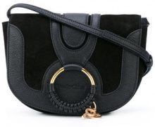 See By Chloé - Hana small crossbody bag - women - Goat Skin/Suede - One Size - BLACK