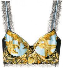 Versace - Bralette stampata - women - Silk/Viscose/Polyamide/Acetate - 42 - BLUE