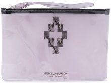 Marcelo Burlon County Of Milan - Borsa Clutch 'Cross' - women - PVC - OS - WHITE