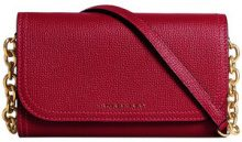 Burberry - topstitch detail chain wallet - women - Calf Leather/Cotton/Polyamide - OS - RED