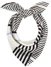 Calvin Klein Silk Logo Foulard Giftpack, Sciarpa Donna, Grigio (White,Eclipse and Black 908), Taglia unica