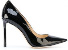 Jimmy Choo - Scarpe pumps 'Anouk' - women - Leather/Patent Leather - 35, 36, 36.5, 37, 37.5, 38, 38.5, 39, 40, 41 - BLACK
