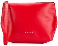 Marni - wrist strap clutch - women - Calf Leather - OS - RED