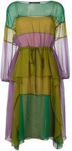 Alberta Ferretti - striped midi dress - women - Silk - 42 - GREEN