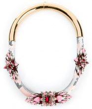 Shourouk - Collana 'Mamba' - women - glass/Brass - OS - PINK & PURPLE