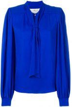 Maison Margiela - Blusa con fiocco - women - Silk - 42, 36, 44, 46, 40 - BLUE
