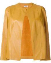 - Desa 1972 - Giacca senza colletto - women - pelle di capra - 36, 38 - di colore giallo