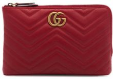 Gucci - Borsa Clutch 'Marmont 2.0' - women - Leather - OS - Rosso