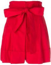 Alexander McQueen - Shorts a vita alta - women - Cotton/Cupro - 42 - RED