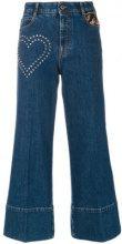 Stella McCartney - Jeans crop - women - Cotton/Spandex/Elastane/Polyester/Metallic Fibre - 25, 29, 30, 26, 28 - BLUE