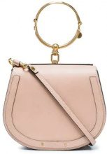 Chloé - Borsa 'Nile' con anello - women - Leather/Suede - One Size - Color carne & neutri