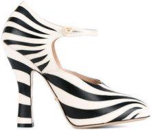 Gucci - striped pumps - women - Leather - 35, 36, 37, 37.5, 38, 39, 40, 40.5, 41 - NUDE & NEUTRALS
