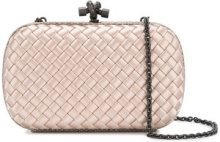 Bottega Veneta - Clutch Knot - women - Lizard Skin/Satin - One Size - NUDE & NEUTRALS