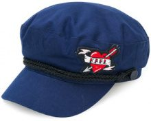 Karl Lagerfeld - Cappello baker boy 'Captain Karl Pins' - women - Cotton - OS - BLUE