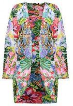 Kimono da spiaggia con motivo tropicale Mona