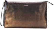 Diesel - Clutch 'Cidneys' - women - Calf Leather - OS - METALLIC