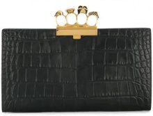 Alexander McQueen - Clutch Knuckle Duster - women - Leather - One Size - Nero