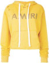 Amiri - Felpa crop con logo stampato - women - Cotton - S, M, XS - YELLOW & ORANGE
