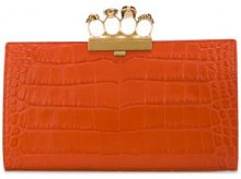 Alexander McQueen - knuckleduster clutch bag - women - Leather - One Size - YELLOW & ORANGE