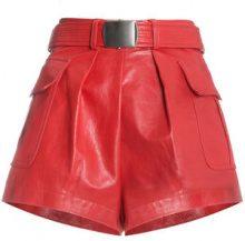 Philosophy Di Lorenzo Serafini - Pantaloni corti - women - Leather - 40, 42, 38 - RED