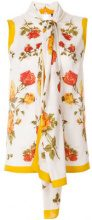 Alexander McQueen - floral print tie neck blouse - women - Silk - 40, 42, 38 - MULTICOLOUR