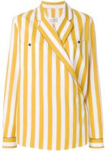 Maison Margiela - Camicia a righe - women - Silk/Polyamide/Viscose - 44 - YELLOW & ORANGE