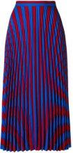 Maison Margiela - striped pleated skirt - women - Polyamide/Viscose - 44, 38, 40, 42 - BLUE