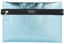 Mm6 Maison Margiela - Clutch metallizzata - women - Polyester/Polyamide - OS - BLUE