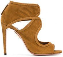 Aquazzura - Antonia sandals - women - Suede/Leather - 36.5, 37, 37.5, 40 - BROWN
