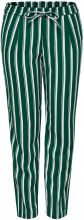 ONLY Striped Trousers Women Green