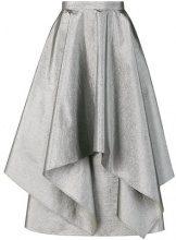 Christopher Kane - paper glitter layered skirt - women - Polyester/Polyimide/Spandex/Elastane - 40 - GREY