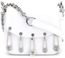 Versus - lion pins crossbody bag - women - Cotton/Calf Leather - OS - WHITE