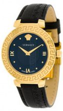 Versace - Orologio 'Daphnis' - women - Leather/stainless steel/Sapphire - OS - Nero