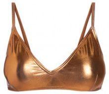 PIECES Metallic Triangle Bikini Top Women Cobber