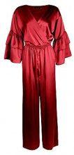 Aimee Satin Ruffle Sleeve Culotte Jumpsuit
