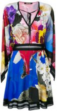 Roberto Cavalli - Vestito con stampa floreale - women - Viscose - 42, 44 - MULTICOLOUR