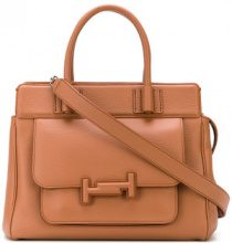 Tod's - Double T medium tote - women - Calf Leather - OS - BROWN