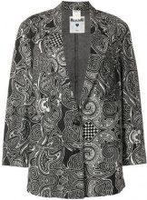 Moschino Vintage - Blazer ricamato - women - Cotton - S - GREY