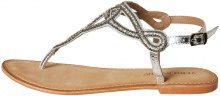 VERO MODA Leather Sandals Women Grey