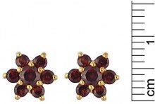 Bijoux pour tous - Parure da donna con granato (1,152 ct), oro giallo 9k (375), 450 mm, cod. 186E0019-01-186P0182-01