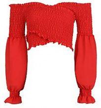 Kate Shirred Wrap Flare Cuff Crop