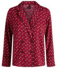 Y.A.S Doublebreasted Shirt Women Red