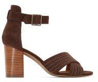Sandali in pelle con cinturino incrociato