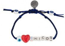 Venessa Arizaga - braccialetto 'I Love Chicos' - women - Cotone/ceramic - OS - Nero