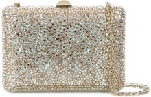 Rodo - crystal covered clutch - women - Leather/Sequin - One Size - METALLIC
