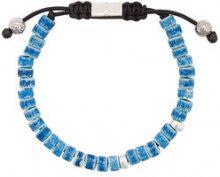 Nialaya Jewelry - Braccialetto con perline - men - ceramic/stainless steel - S, M, L, XL, XXL - BLUE